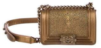 Chanel 2015 Mini Galuchat Boy Bag