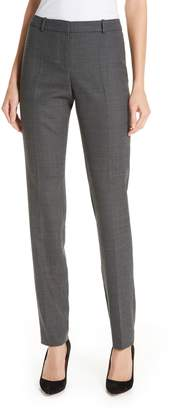 BOSS Tilunana Geometric Stretch Wool Blend Suit Trousers