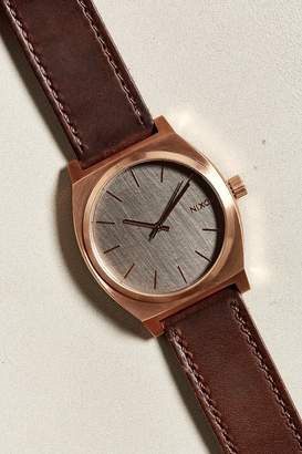 Nixon Time Teller Leather Band Watch