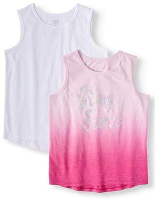 937b4edab15a Athletic Works Sequin Graphic and Solid Active Tank Tops