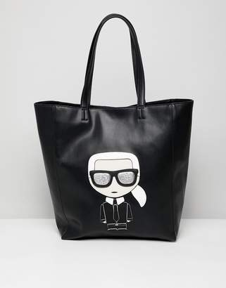 Karl Lagerfeld iconic leather shopper bag
