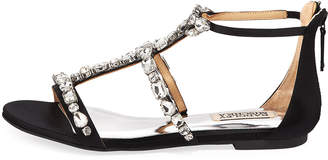 Badgley Mischka Waren Satin Embellished Sandals