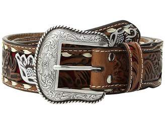 M&F Western Floral Pierced Painted Laced Edge Belt