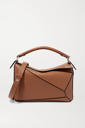 Loewe Puzzle Small Textured-leather Shoulder Bag - Tan