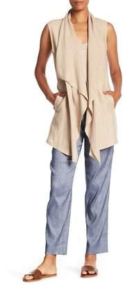 Lafayette 148 New York Drape Collar Vest