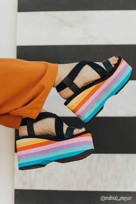 Forever 21 Rocket Dog Rainbow Platform Sandals