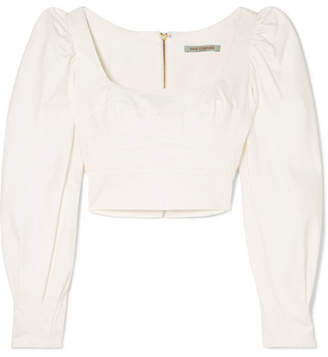 Silvia Tcherassi - Victoria Cropped Cotton-blend Top - White