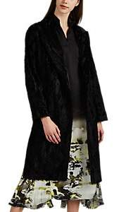 Boon The Shop Women's Patchwork Shearling & Leather Coat - Black