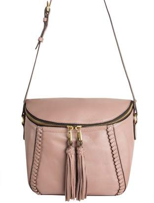 Oryany Pebbled Leather Crossbody Bag w/ Tassels - Kimberly