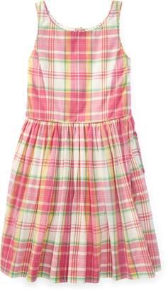 Ralph Lauren Madras Cotton Sleeveless Dress