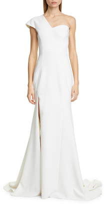 Christian Siriano One-Shoulder Evening Gown