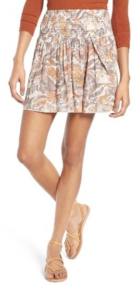 Women's Sun & Shadow Print Smocked Waist Skirt $45 thestylecure.com