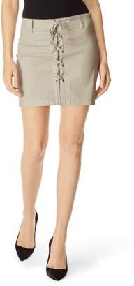 J Brand Talia Lace-Up Miniskirt