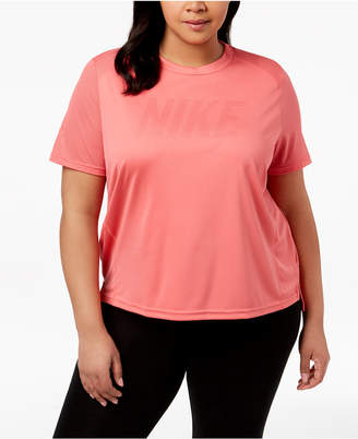 Nike Plus Size Dry Miler Logo Running Top