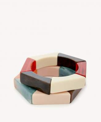 Sole Society Wooden Tribal Bangles