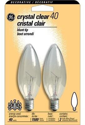 GE 40W 120-Volt (2500K) Light Bulb (Pack of 2