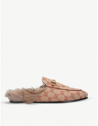 Gucci Princetown monogram slippers