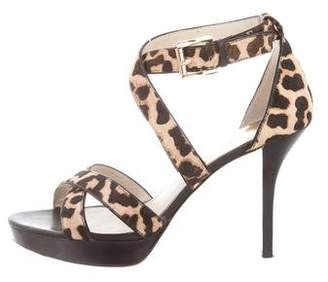 MICHAEL Michael Kors Animal Print Ankle Strap Pumps