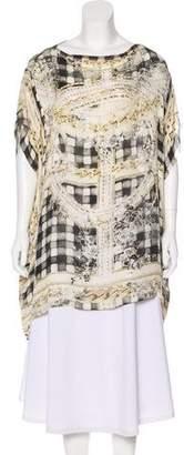 Balmain Printed Silk Blouse