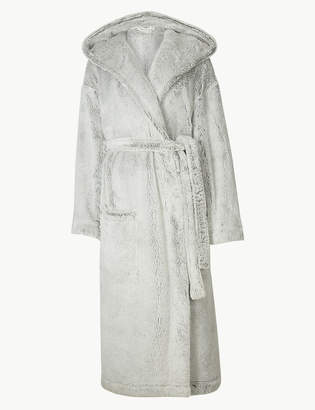 M&S Collection Supersoft Hooded Long Sleeve Dressing Gown