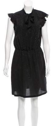 Tomas Maier Metallic A-Line Dress