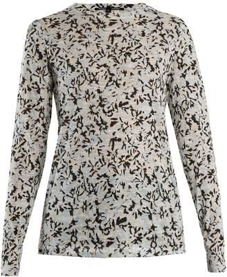 Proenza Schouler Floral-print long-sleeved cotton T-shirt