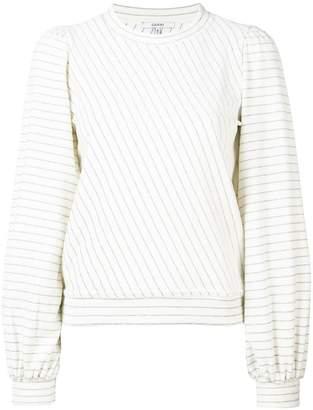 Ganni Hawley puff sleeve sweatshirt