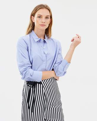 J.Crew New Perfect Shirt in End-On-End Cotton