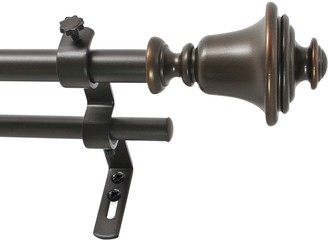 Decopolitan Bell Adjustable Vintage Bronze Tone Double Curtain Rod
