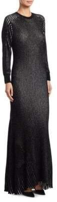 Loewe Lurex Rib-Knit Gown