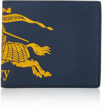 Burberry Printed Textured-Leather Wallet