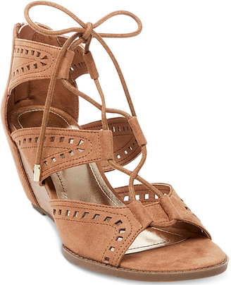 Madden Girl Rally Perforated Wedge Sandals Women's Shoes $59 thestylecure.com