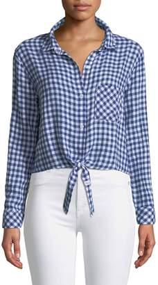 Rails Val Ginham Tie-Shirt