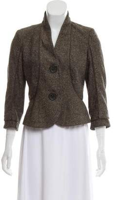 Magaschoni Tweed Casual Blazer