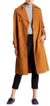 Vince Suede Trench Coat