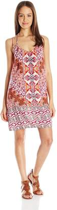 Angie Women's Printed Double Strap Dress