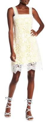 Romeo & Juliet Couture Floral Crochet Lace Dress