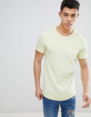 Jack and Jones Originals Pocket T-Shirt With Oil Wash