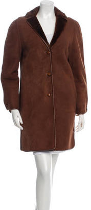 Perry Ellis Knee-Length Suede Coat $570 thestylecure.com