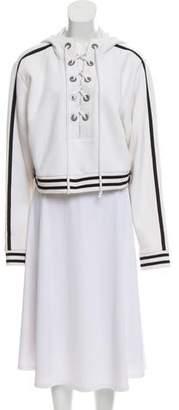 FENTY PUMA by Rihanna Hooded Striped-Accented Sweatshirt