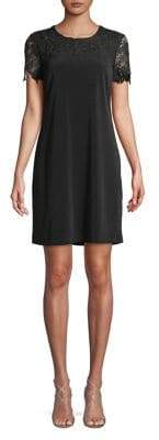 Karl Lagerfeld Paris Lace Yoke Sheath Dress