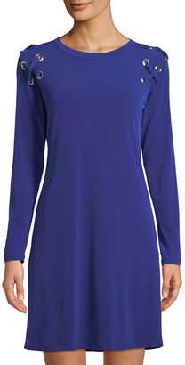 MICHAEL Michael Kors Grommet-Shoulder A-Line Dress