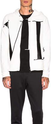 Valentino VLTN Hoodie in White & Black   FWRD