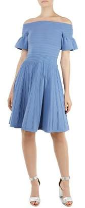 Ted Baker Criptum Off-the-Shoulder Knit Dress