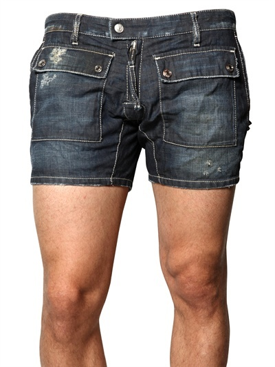 Dsquared - Lightweight Denim Cargo Shorts