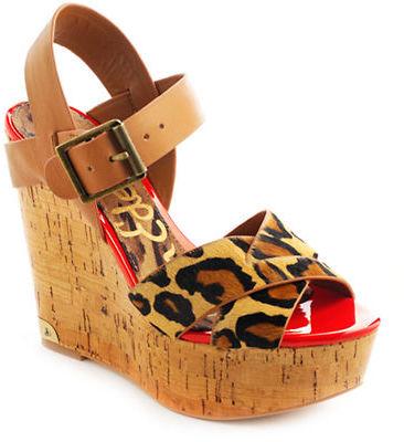 Sam Edelman Sasha Leather Platform Wedge Sandals