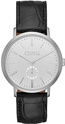 Chaps Men's 'Dunham' Quartz Stainless Steel and Leather Casual Watch