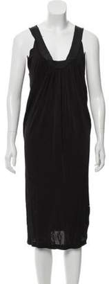 Alberta Ferretti Sleeveless Midi Dress Black Sleeveless Midi Dress