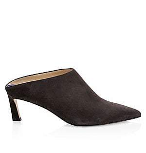 Stuart Weitzman Women's Mira Leather Mules