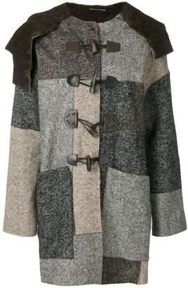 Maurizio Pecoraro patchwork herringbone coat